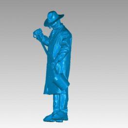 Skenování postavy slévaře pro vytvoření sochy v životní velikosti