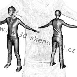 3D skeny osob pro filmy a počítačové hry