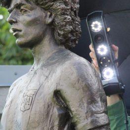 3D skenování sochy Diega Maradony