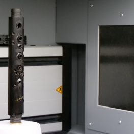 CT skenování při opravě klarinetu