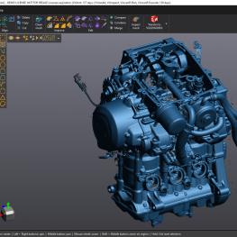 Skenování dílů závodního motoru