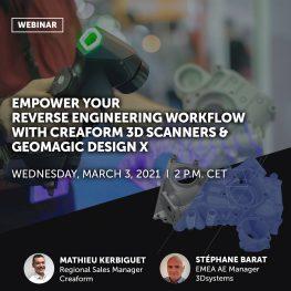 Webinář: Reverzní inženýrství s Design X a HandySCAN 3D 3.3.